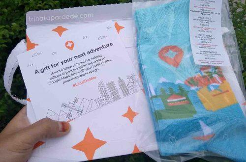 Hadiah Kaos Kaki dari Google Maps Sebagi Local Guides